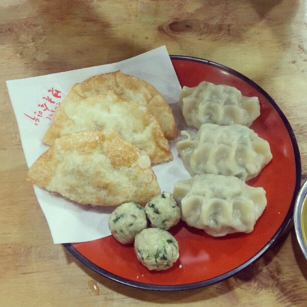 You know korean japanese and chinese jiaozi are totally different? This is Korean jiao. And bigger than normal