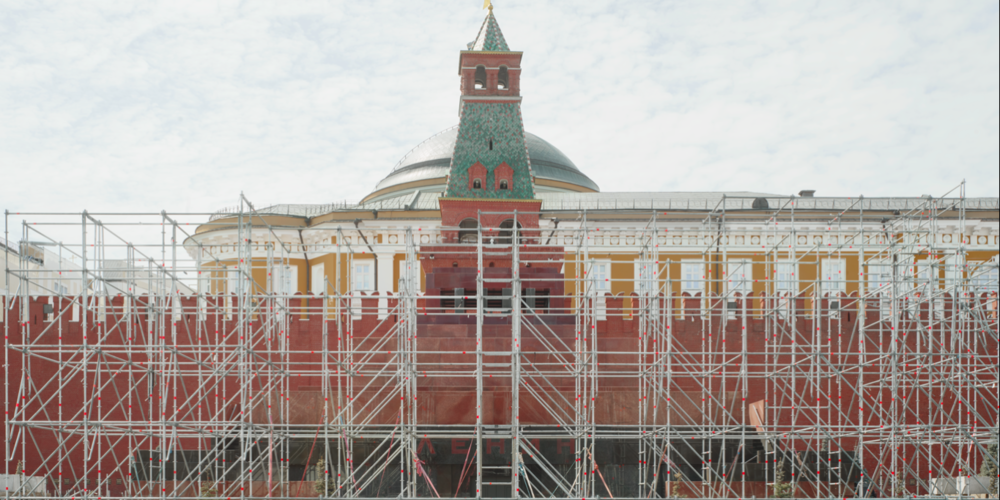 Lenin's Mausoleum, Red Square, the day after the parade. ©Davide Monteleone 2015.