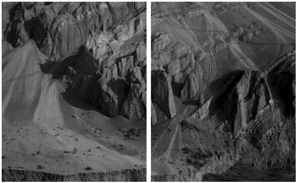 """Traces on the Flaming Mountains"" 2017. Diptych platinum print 76x56cm ed.5."