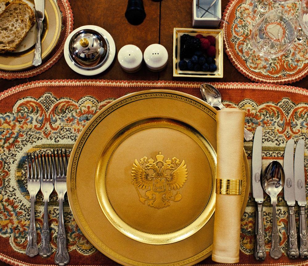 Putin's Table Set , 2012. Giclée Print   Ed. 8+2AP. Size: 50x58 and  87x100 cm