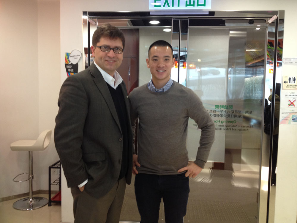 Mark MacLean, International Admission Coordinator and Magnus Leung, Director of Affinity
