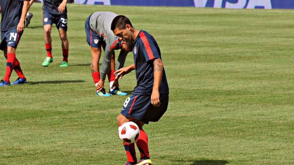 Clint Dempsey with the U.S. National Team.