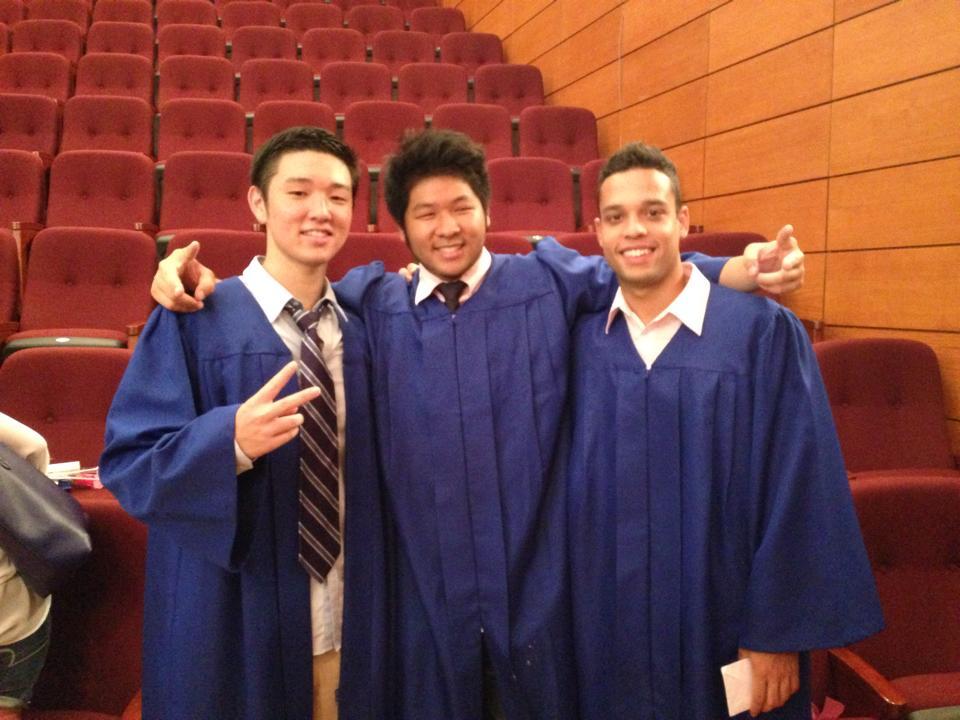 Filipe graduating in June 2014 at International Christian School.