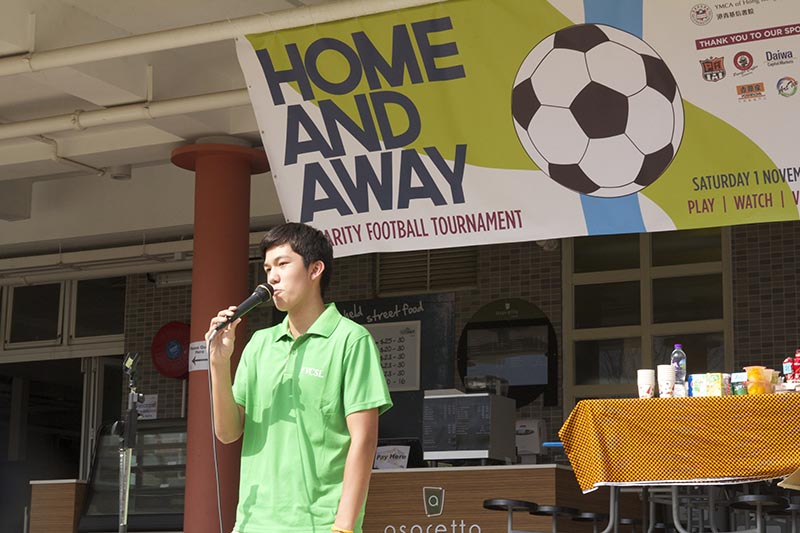 Remi leading a footballcharity event that raised awareness for refugee and asylum seekers in Hong Kong.