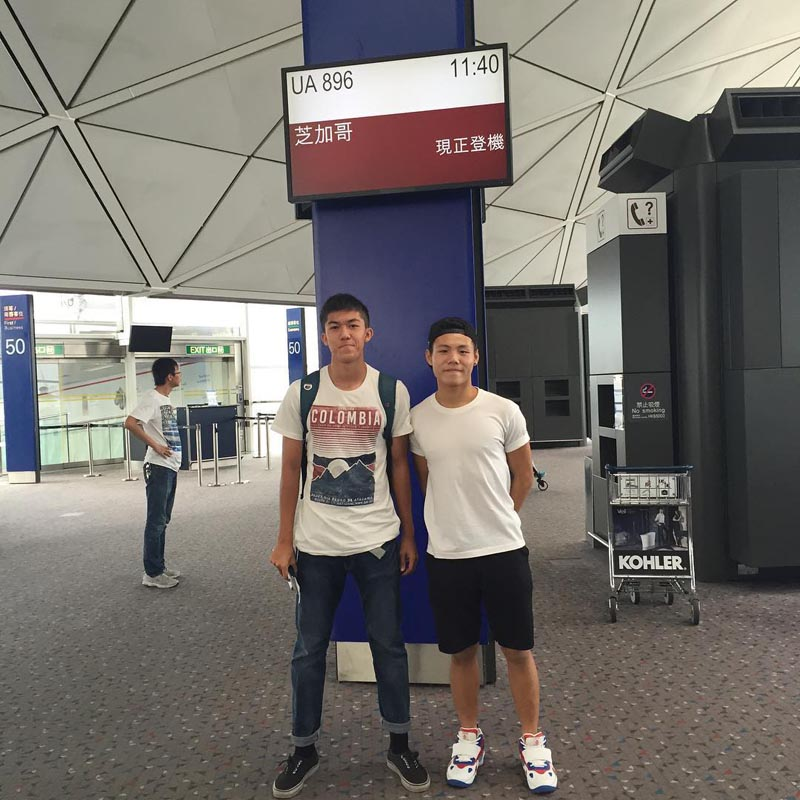 Remi Dujardin(Left) and Fung Kwun Ming(right) pre departure