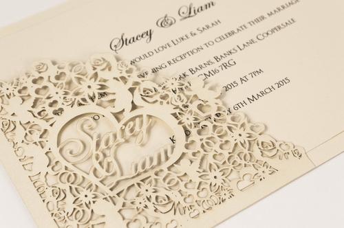 Laser cut wedding invitations bella collection junglespirit Choice Image