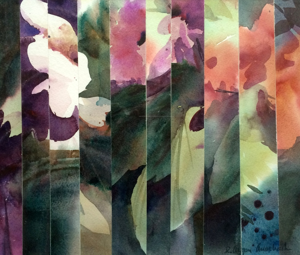 Floral Prism, watercolor, by Rita Argen Auerbach