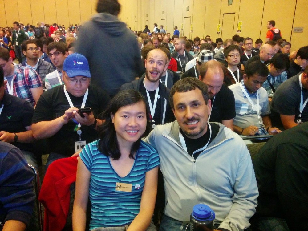 With Chiuki Chan - photo-bombed by some weirdo (Benjamin Weiss).