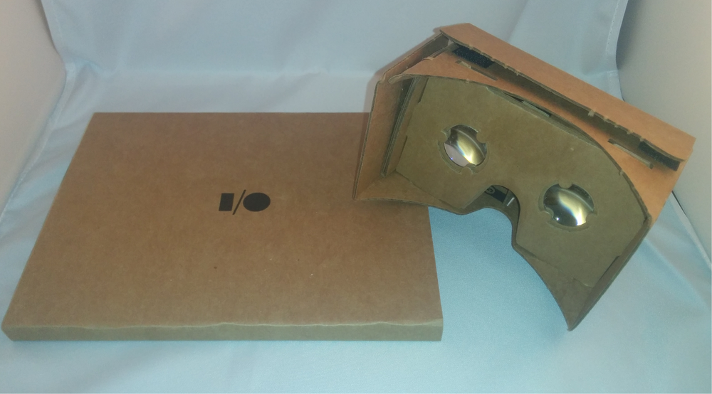 """Boxed"" and assembled Google Cardboard"