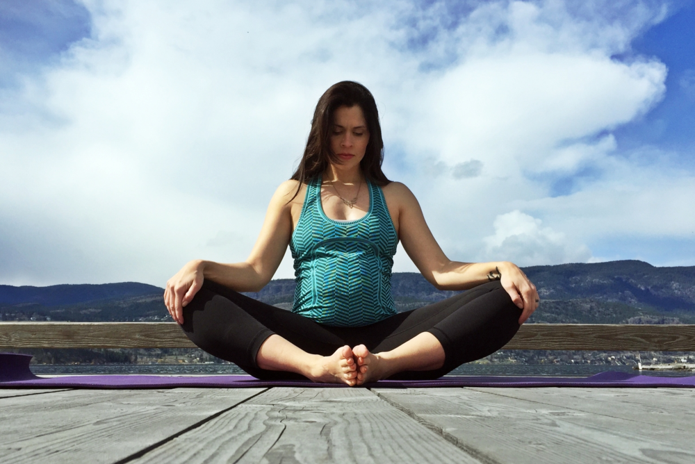 Practising yoga during pregnancy -