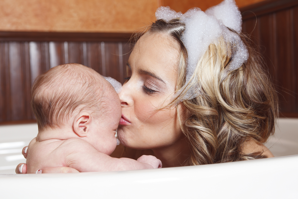Postpartum bath for Mommy and me (natural perineal healing herbs recipe)  -