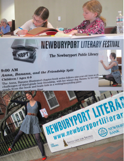 Reading and workshop at the Newburyport Literary Festival in Newburyport, MA (April)