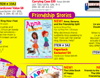 4th Grade Scholastic Reading Club flyer, October 2015