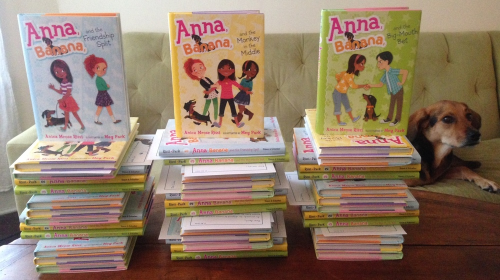 The first batch of Anna, Banana donations, for high-poverty schools and libraries in MI, NY, FL, ME, NC, D.C., PA, IL, CT, AZ, and OK.