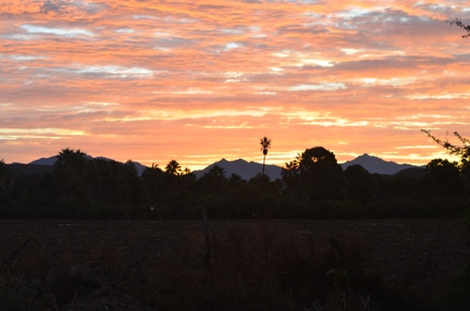 Baja sunrise over the Sierra de la Lagunas