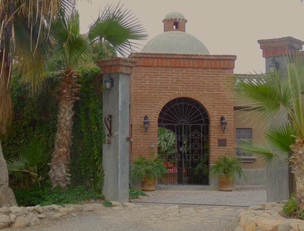 La Hacienda front gate. Welcome home!