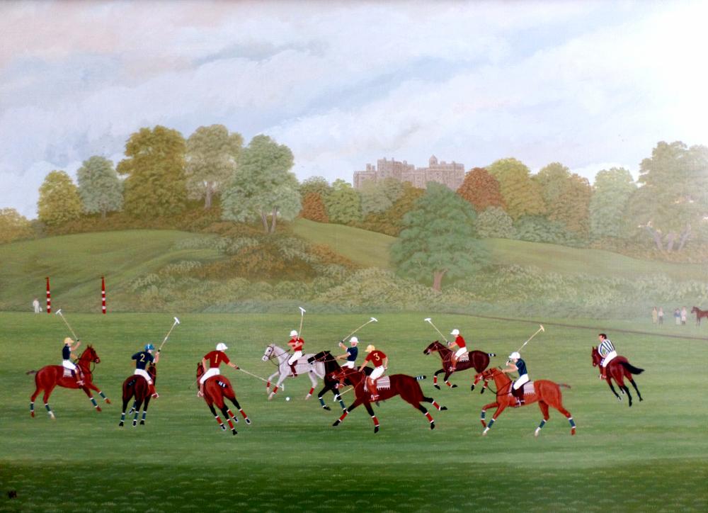 Polo at Belvoir Castle.
