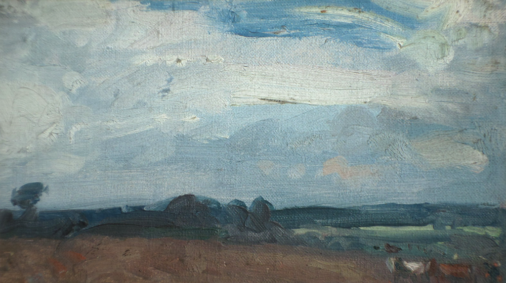harry becker oil Ploughing Landscape