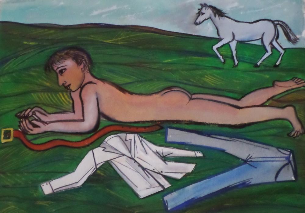 Eileen Cooper watercolour 2007