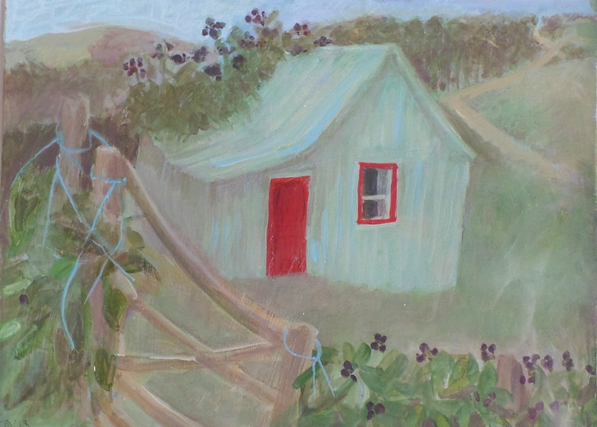 "Tessa Newcomb Oil ""Welsh shed"""