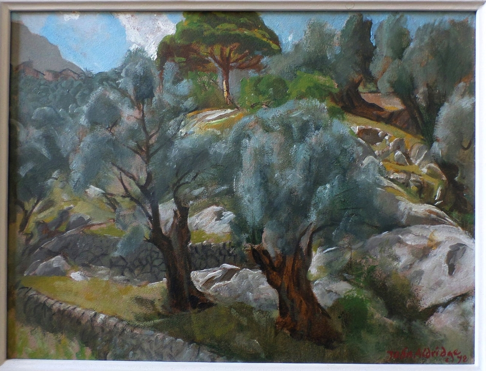 'Deya Majorca' Oil on Board 1972