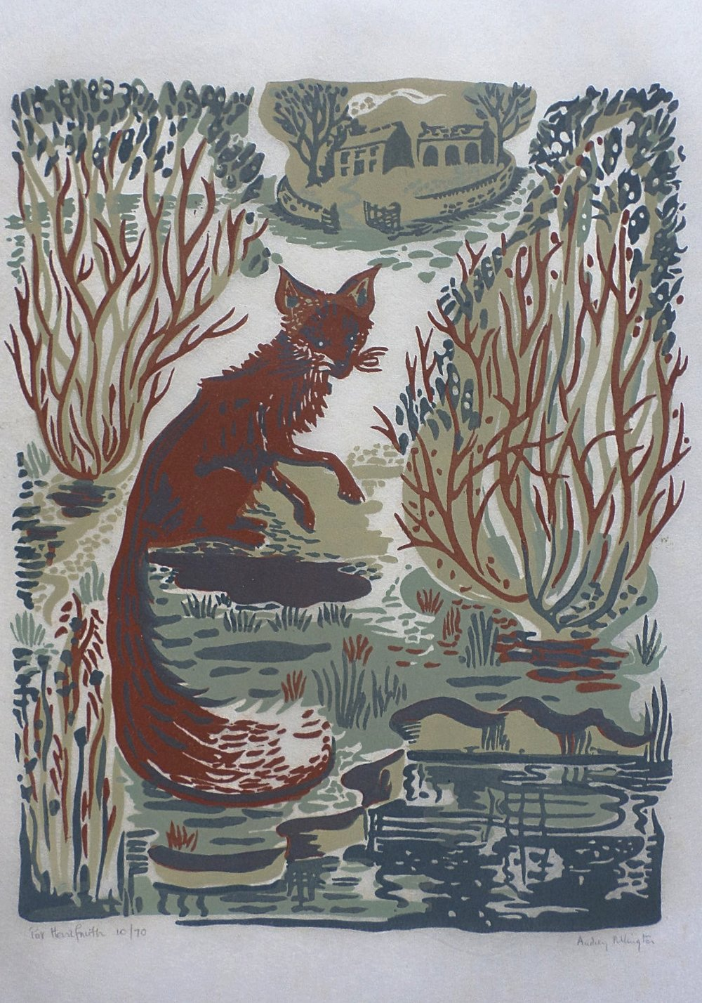 Audrey Pilkington linocut for sale