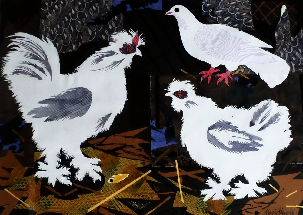 Mark Hearld Collage 'Bo and the Silkies'