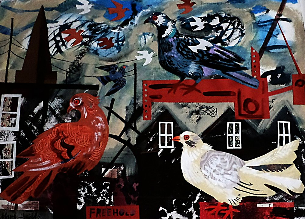 Mark Hearld Collage 'Freehold'