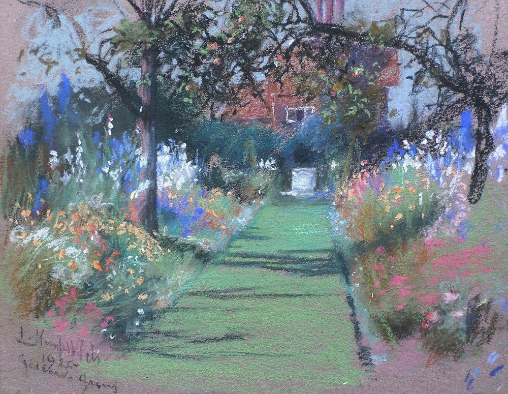 lucy kemp-welch flower garden sketch