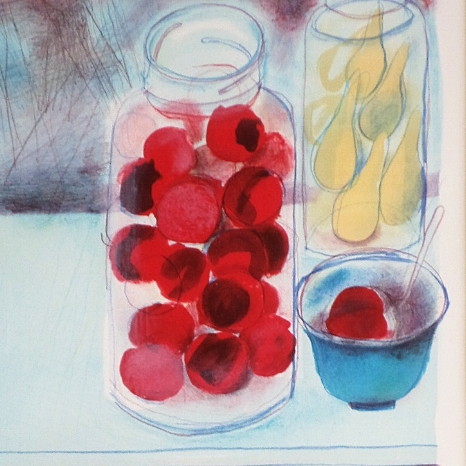 Red Plum in jar