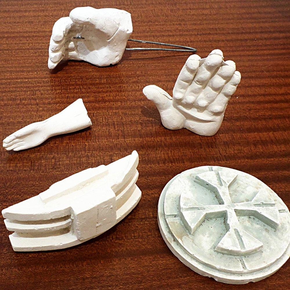 Eduardo Paolozzi plaster maquette collection
