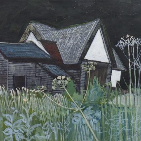 Gouache - Essex Barn