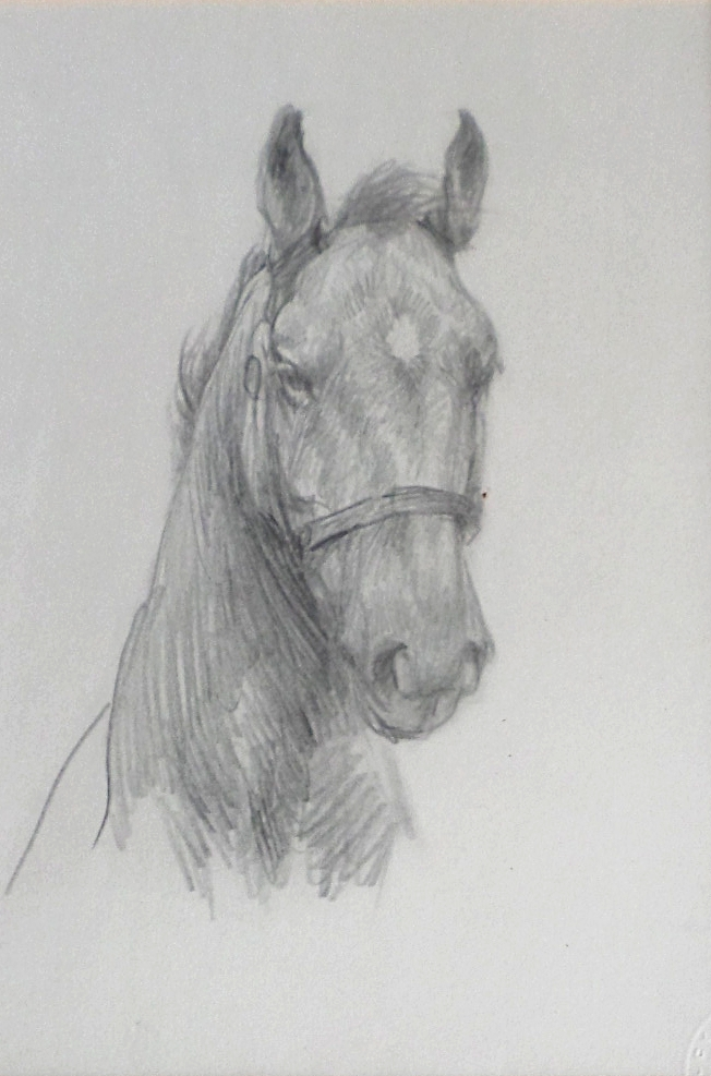 Lucy Kemp Welch pencil study