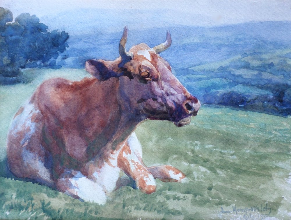 lucy kemp welch watercolour painting