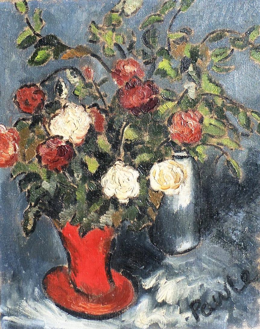 John Pawle oil painting roses