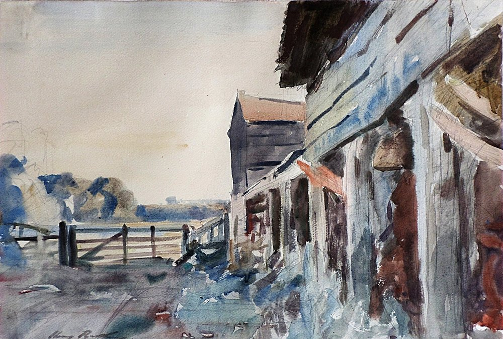 harry becker watercolour for sale