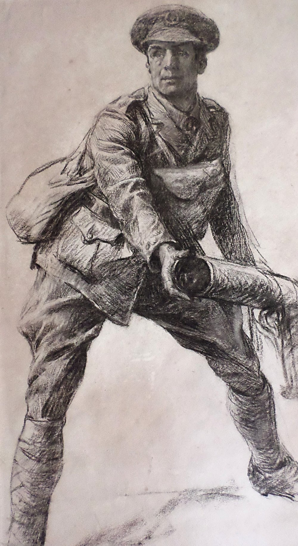 Lucy Kemp Welch WW1 charcoal for sale
