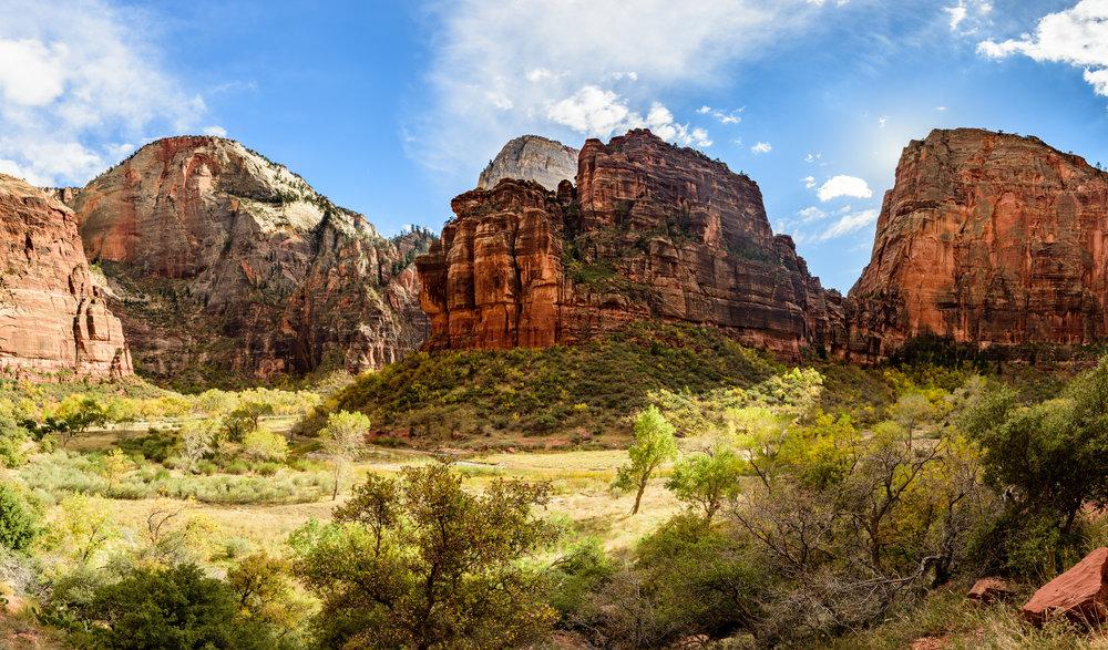 Zion National Park six image pano