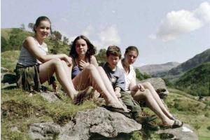 Izzy, Pippa, Gordon, and Charlotte