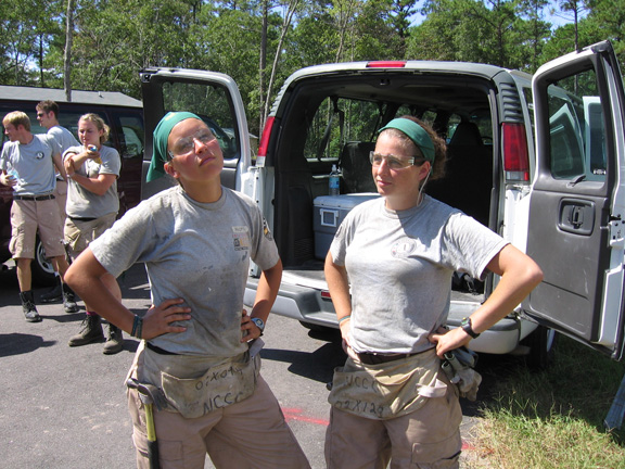 Naomi and me looking super tough in our AmeriWear and PPE