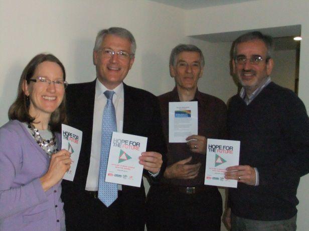 Andrew Jones MP with Richard Marjoribanks, Brian Appleby and Jemima Parker