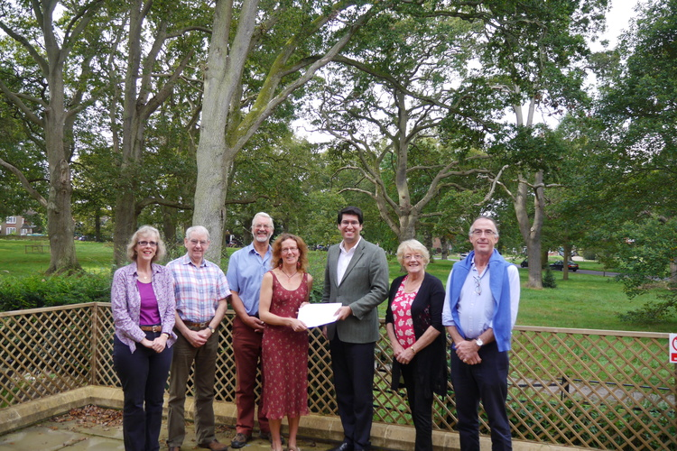 Hartley Wintney constituents meeting with their local Conservative MP, Ranil Jayawardena, to deliver letters and discuss climate change.