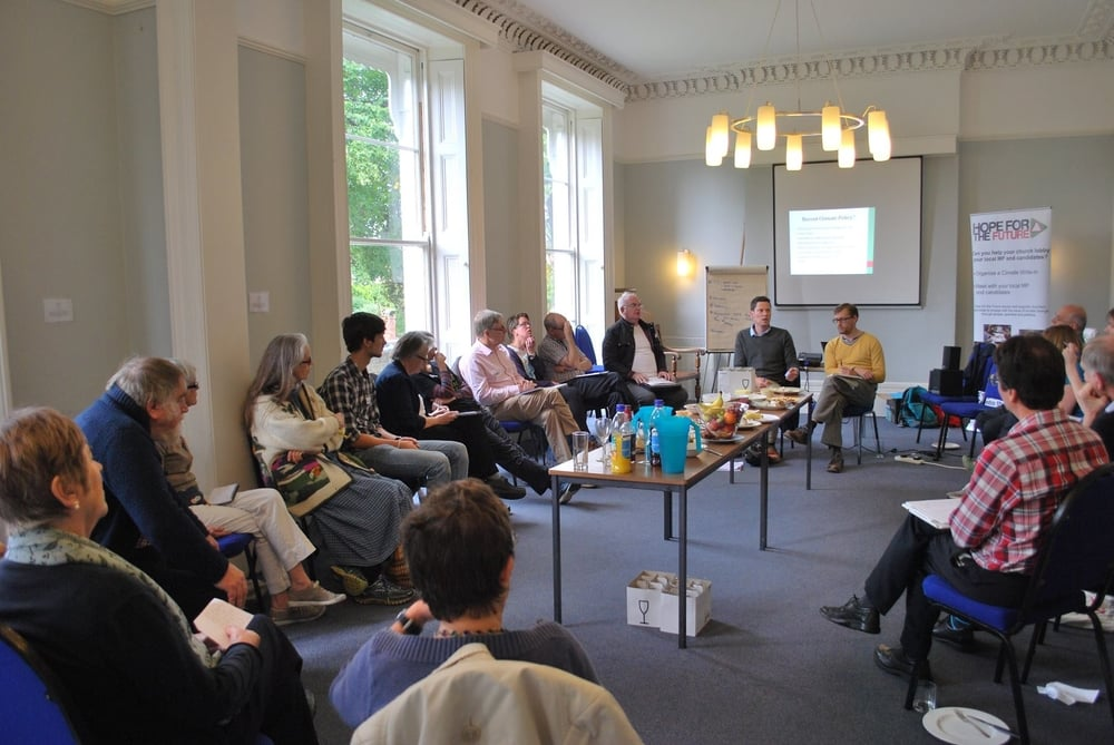 Alex being lobbied by the churches of Cheltenham at a Hope for the Future event in September.