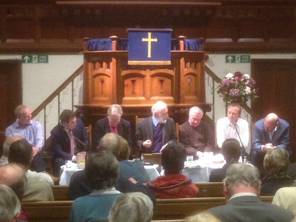 Sir Edward (3rd in from the left) with the other panellists.