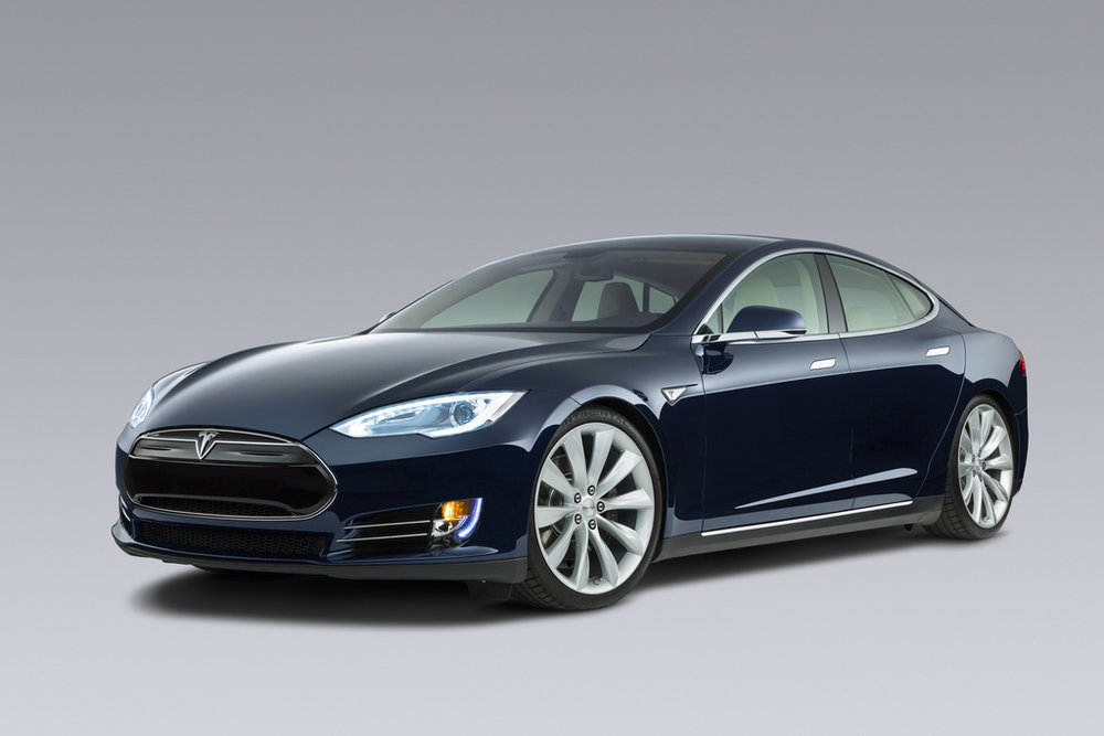 Tesla model S electric car.