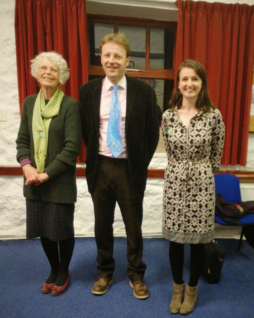 Pippa Stilwell (left) with Derek Thomas MP and Sarah Robinson