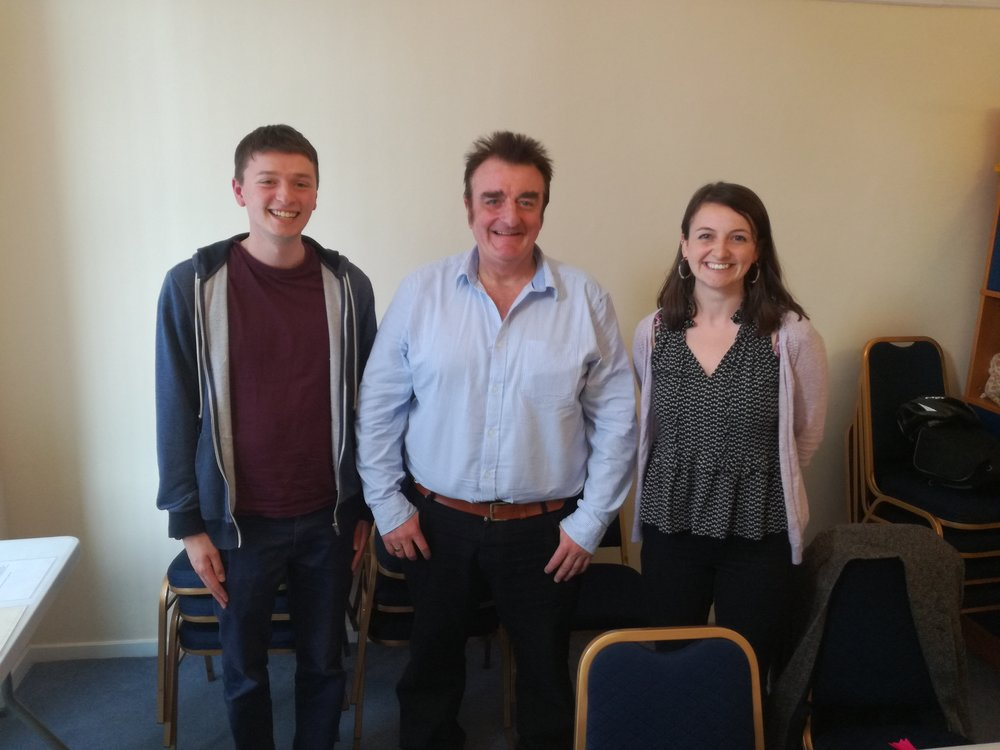 Simeon, Tommy Sheppard MP and Sarah (HFTF)