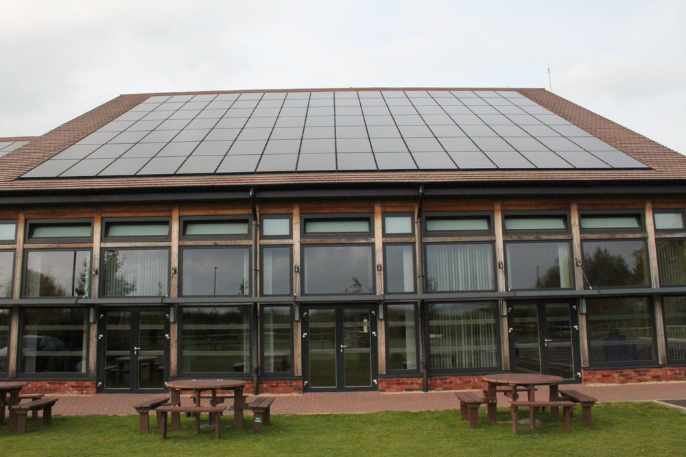 The event was held in Stoke Orchard Community Centre with 198 solar panels on its roof.