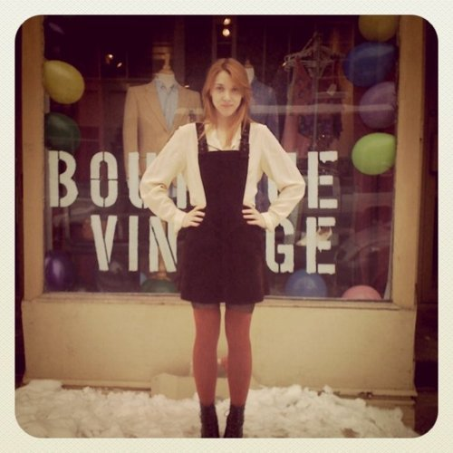 Lara outside a Citizen Vintage Pop Up 2010
