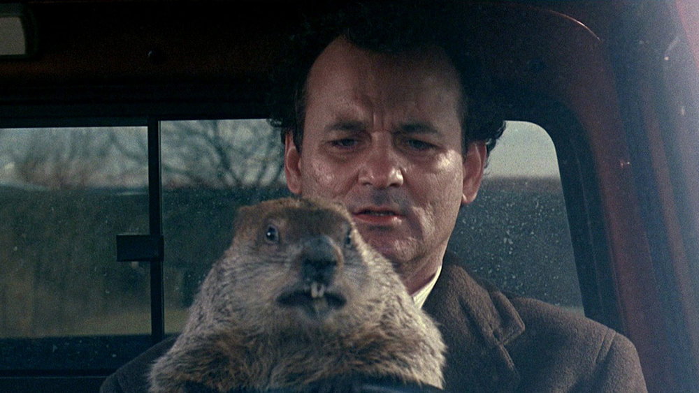 Screen-capture from Groundhog Day (1993).